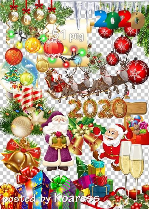 Праздничный клипарт без фона - Новогодние украшения-2