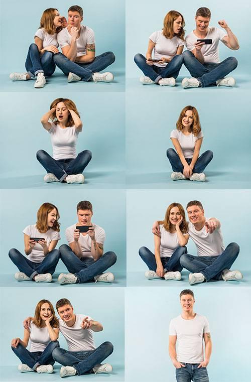 Парень и девушка - Растровый клипарт / Guy and girl - Raster clipart