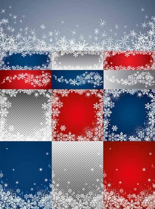 Снежинки - Векторный клипарт / Snowflakes - Vector Graphics
