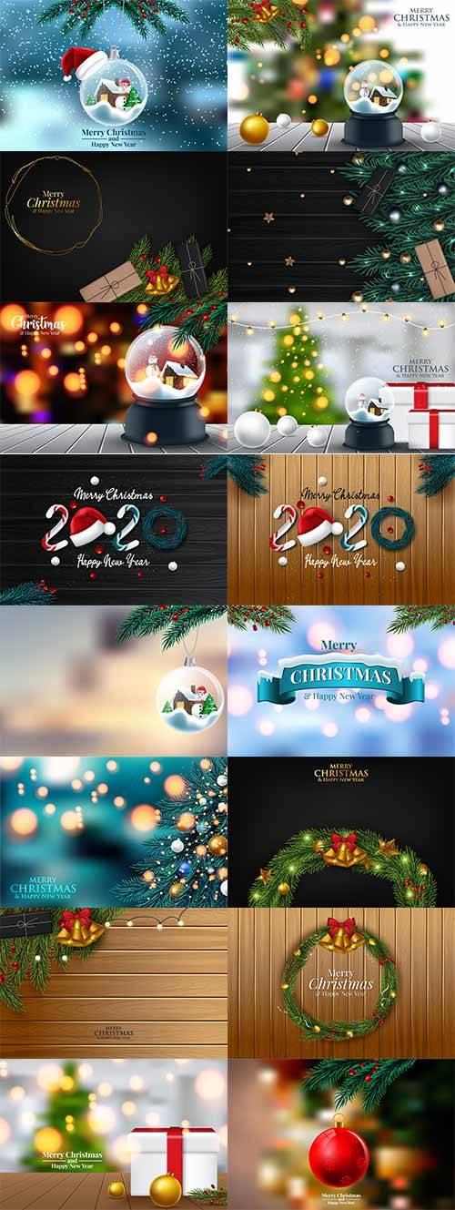 Новогоднее ассорти 2 - Векторный клипарт / Christmas pictures 2 - Vector Gr ...