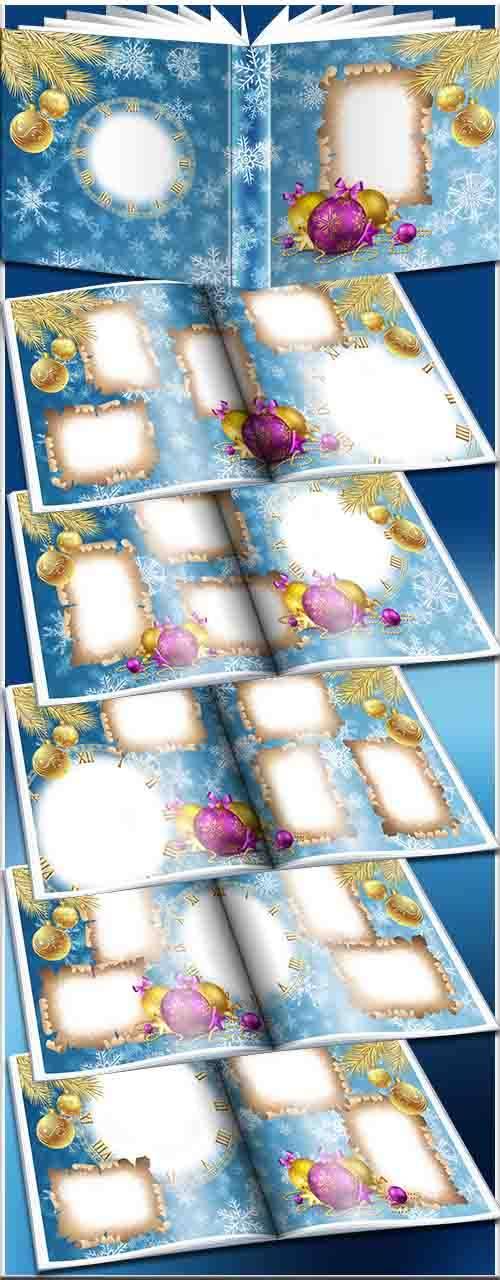 Зимний фотоальбом - Золотая ель