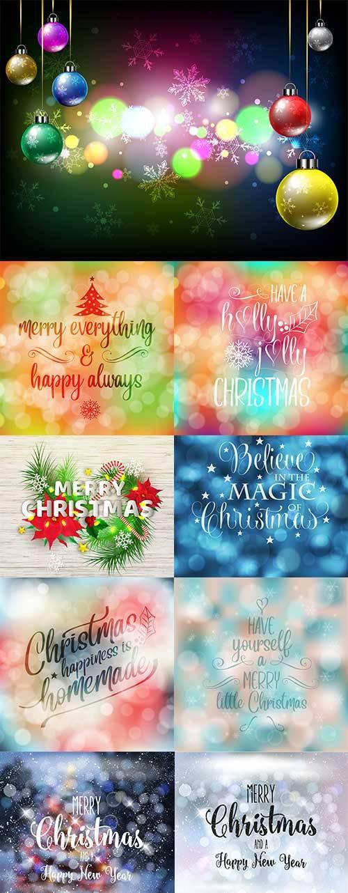 Новогоднее ассорти 6 - Векторный клипарт / Christmas pictures 6 - Vector Gr ...