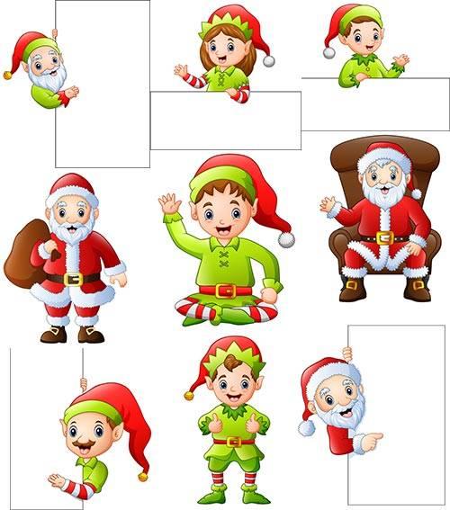 Новогодние персонажи в векторе 2 / New Year characters in vector 2