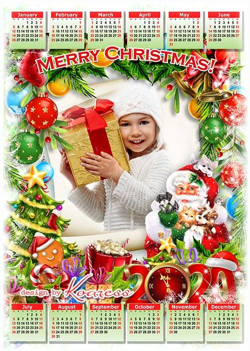 Праздничный новогодний календарь на 2020 - С Новым годом, Рождеством, с нов ...