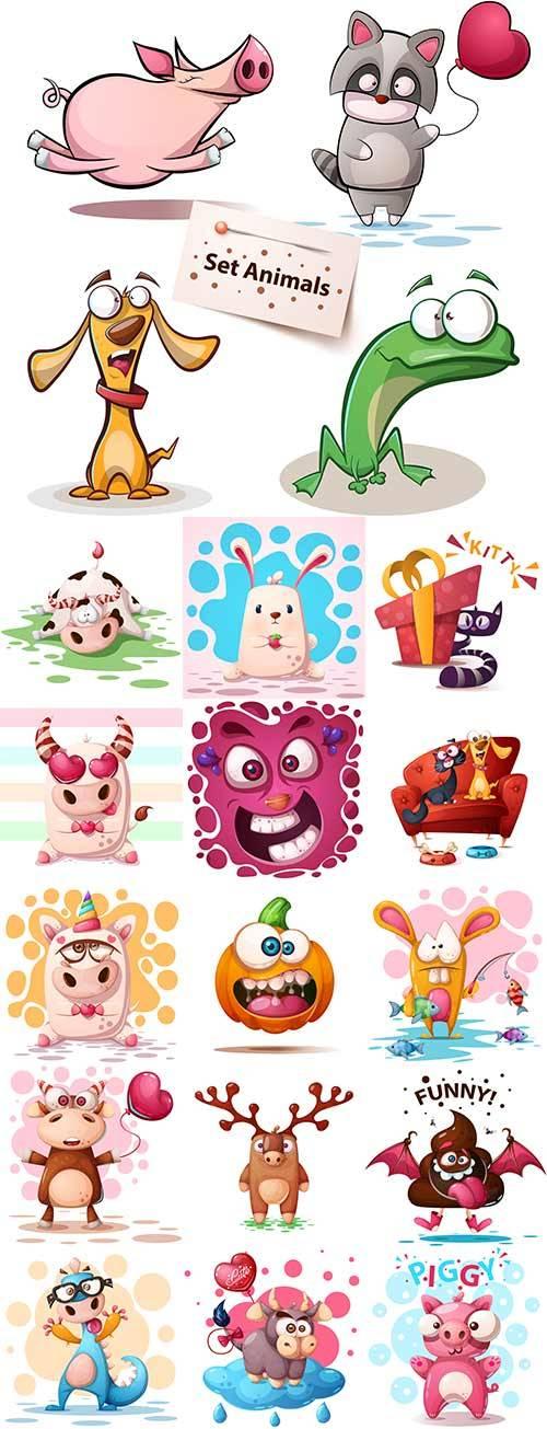 Забавные персонажи в векторе / Funny characters in vector