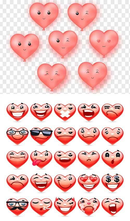 Сердечки - Векторный клипарт / Hearts - Vector Graphics