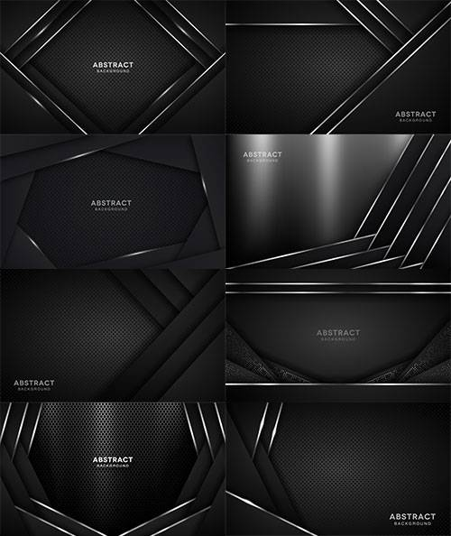 Элегантные тёмные фоны в векторе / Elegant dark backgrounds in vector