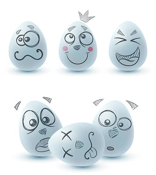 Забавные яйца к Пасхе - Векторный клипарт / Funny eggs for Easter - Vector  ...