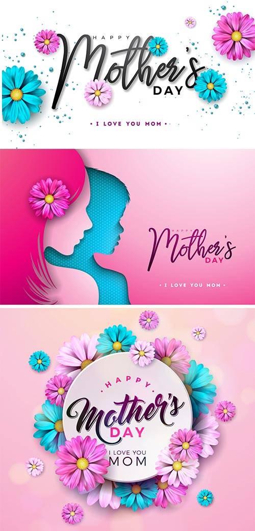 Векторные фоны - День матери