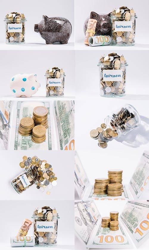 Копилка для валюты - Растровый клипарт